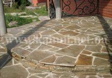 Укладання природного каменю на бетонну основу Київ