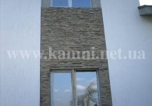 укладка камня на фасаде дома цена Киев