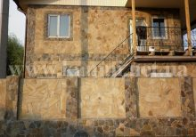 укладка камня на фасад цена работы Киев