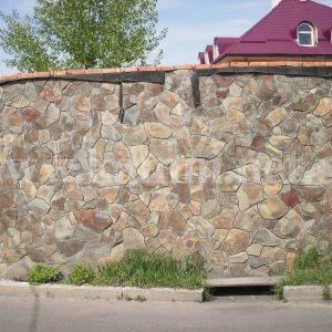 обложить забор камнем фото Киев