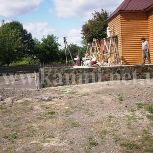 подпорная стенка из природного камня Киев