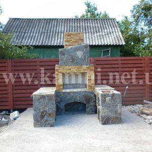 облицевать барбекю камнем Киев