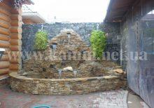 водопад из декоративного камня фото